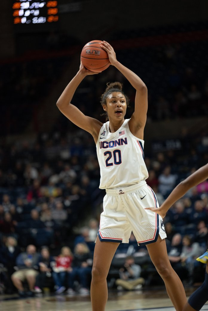 Auriemma has stressed how important Nelson-Ododa's role will be this season, setting her up for a big year.  Photo by Charlotte Lao / The Daily Campus.