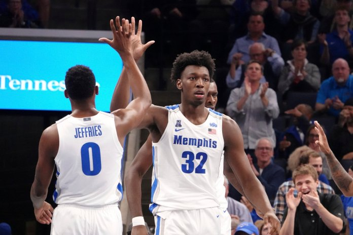 Memphis has the youngest team in the American but also the team with the most potential, surrounding their season with questions.  Photo from the Associated Press.