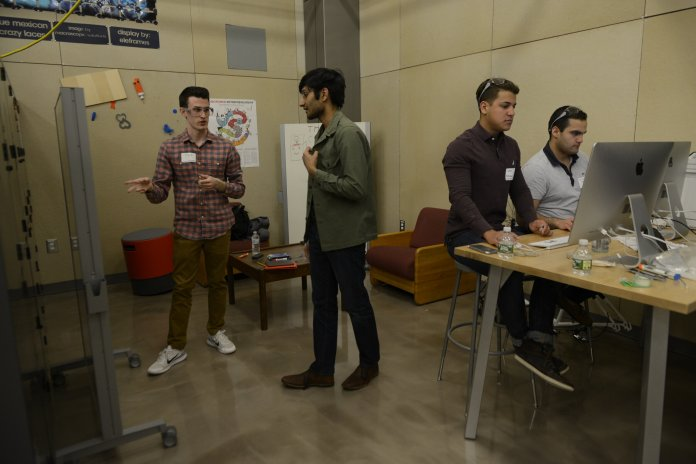 The annual HackUConn Hackathon took place in the Next Gen hall makerspace. Student groups create presentations within a time frame of 24 hours around the topic of allergy.  File Photo / The Daily Campus.