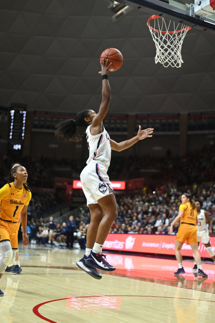 To start their season, the UConn Women's basketball team defeats California on Sunday, November 10 at Gampel Pavillion. Christyn Williams leads the team with 24 points.  Photo by Charlotte Lao/The Daily Campus