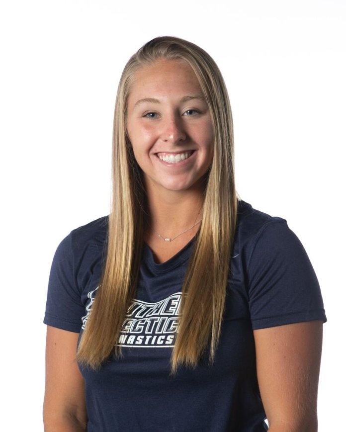 Twenty-year-old Melanie Coleman of Milford, Connecticut, was an All-State gymnast and captain of the gymnastics team during her years at Jonathan Law High School. Coleman died over the weekend following a spinal cord injury during a training exercise. (Photo Courtesy of Southern Connecticut State University)