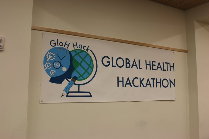 Students gathered to solve global health issues with technology at the Global Health Hackathon on Friday, Nov. 15, 2019.  Photos courtesy of the author.