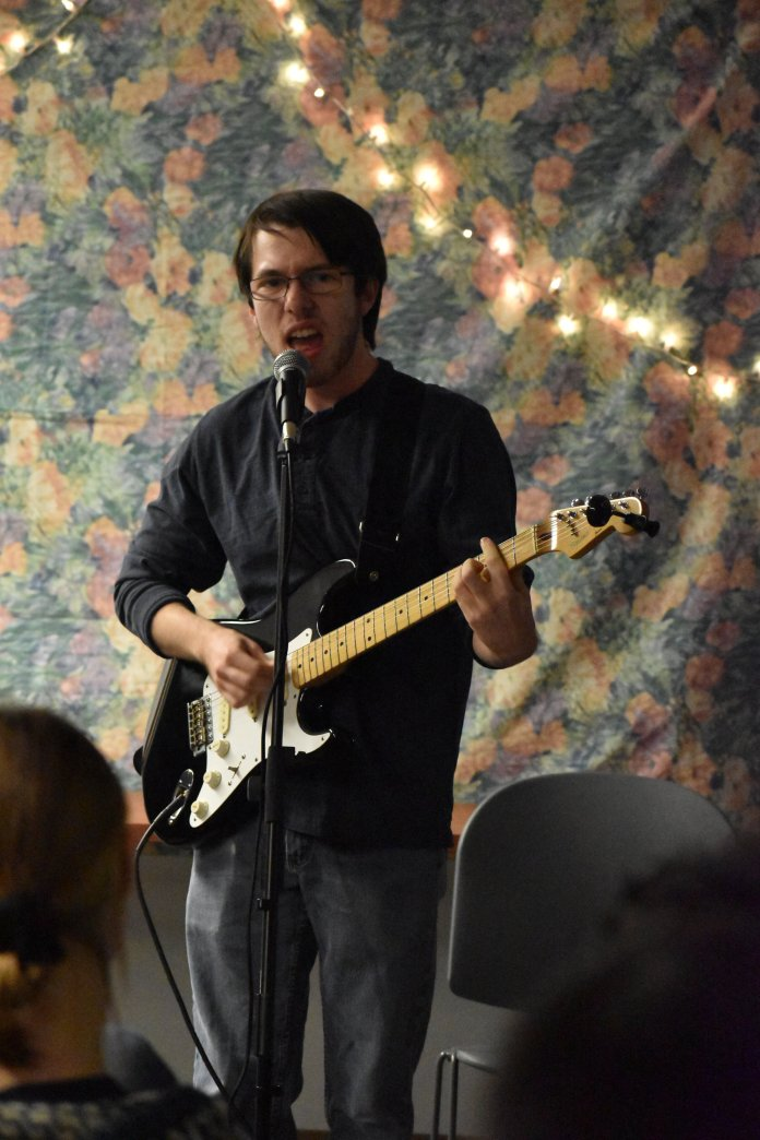 The real takeaway for the night, in addition to the incredible talent and friendliness of those in attendance, was that an unusual percentage of honors students have spare guitar strings, and that Geiger was incredibly committed to performing.