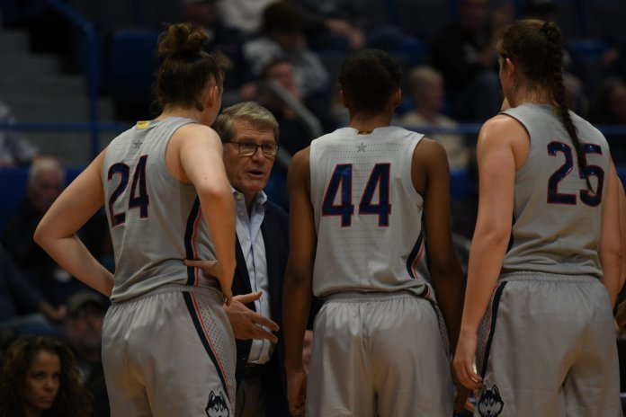 """""""Our ball movement from day one to today is drastically different. We still have a lot of work to do, but I like the direction that we're going in,"""" Auriemma said."""