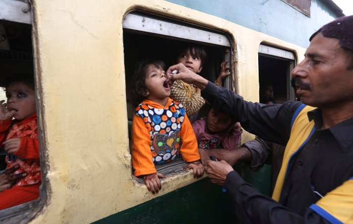 Polio is just one example of some of the many diseases we have forgotten about, all thanks to the universal immunity vaccines are providing.  Photo from the Associated Press.