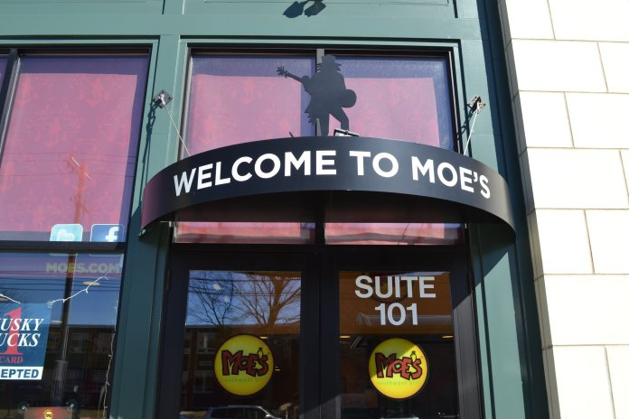 """Moe's Southwest Grill received a 98 on their Oct. 12, 2019 inspection. Moe's Southwest Grill general manager, Marilyn Gonzalez, said that it was """"pretty easy"""" for Moe's to get a passing health inspection.  File Photo / The Daily Campus"""