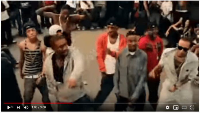 The Dougie was one of the first viral dances on YouTube, paving the way for videos late in the decade.  Screengrab from YouTube