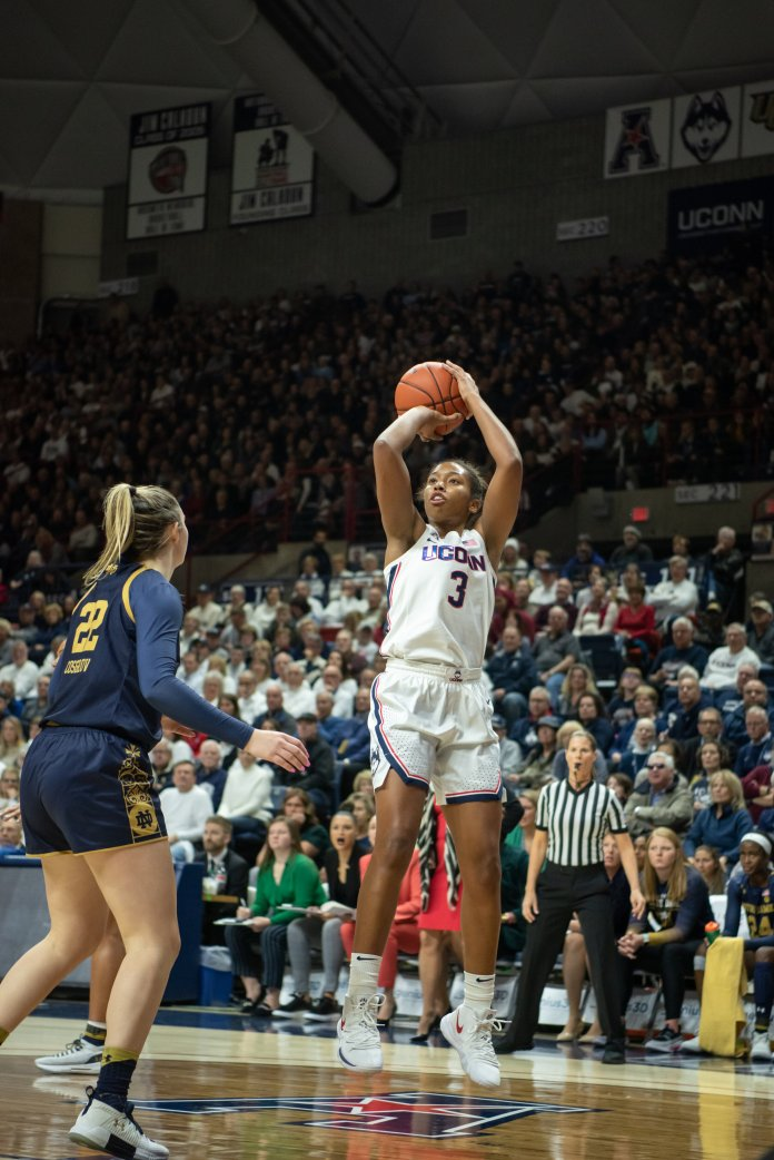 Through eight games, Walker is averaging 22.1 points and 8.9 rebounds per game while shooting 48.5 and 48.8 percent from the field and from deep, respectively.  Photo by Charlotte Lao/ The Daily Campus