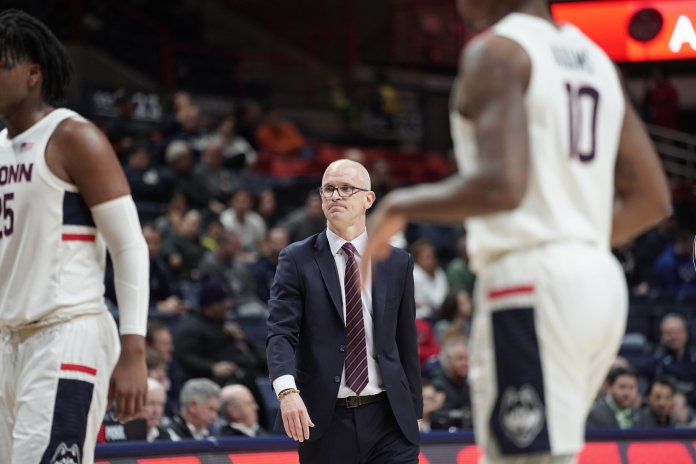 Coach Dan Hurley re-strategizes as the team drops from a 13 point lead to only 6 points.