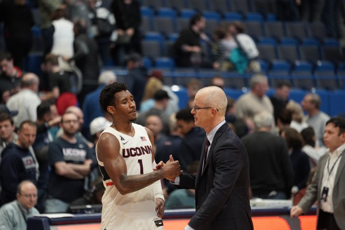 UConn took a heart wrenching defeat to Wichita State after double overtime with a final score of 89-86 last week. This week, UConn lost to Villanova, continuing its six-year-long losing streak against them.  Photo by Eric Wang/The Daily Campus