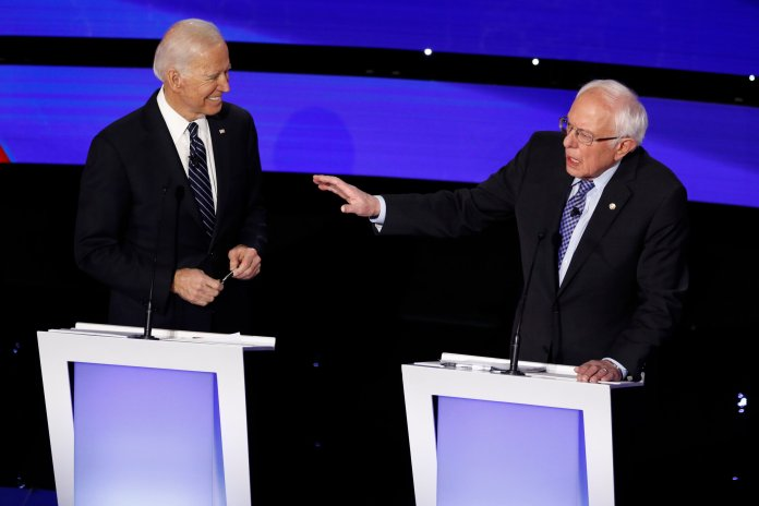 Elecatability carries more weight than ever in elections, with candidates Joe Biden and Bernie Sanders leading the pack.  Photo from the Associated Press.