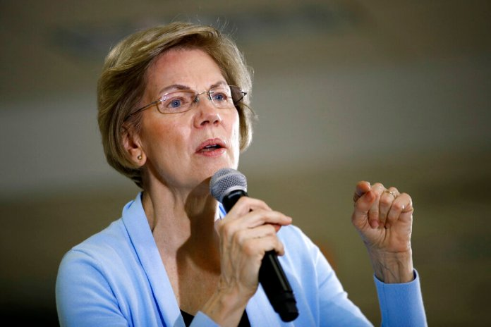 Democratic presidential candidate Sen. Elizabeth Warren, D-Mass., speaks during a campaign event, Monday, Jan. 20, 2020, in Grimes, Iowa.  Photo by Patrick Semansky/AP Photo