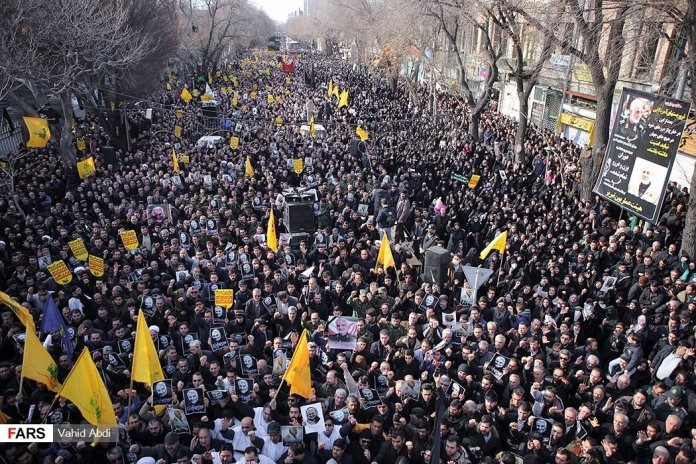 Demonstrations in Iran over the death of Qasem Soleimani by  Fars Photography