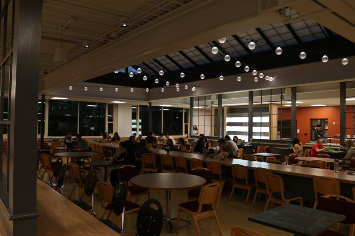A photo of Whitney Dining Hall. More dining halls are adding halal food to their selections. File photo/The Daily Campus