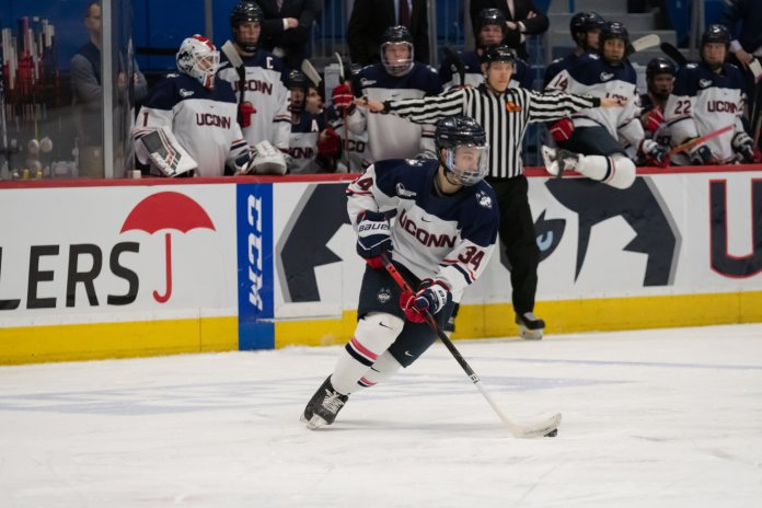Ruslan Iskhakov has had a tough journey after moving to the United States at 18 years old, but his coaches and teammates have been by his side the entire way to give him the best opportunities they could offer.  Photo by Kevin Lindstrom / The Daily Campus.