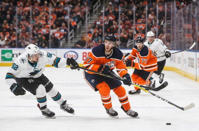 Connor McDavid is having an excellent season but is overshadowed by the league limiting the physical aspect of the game.  Jason Franson / AP Photo.