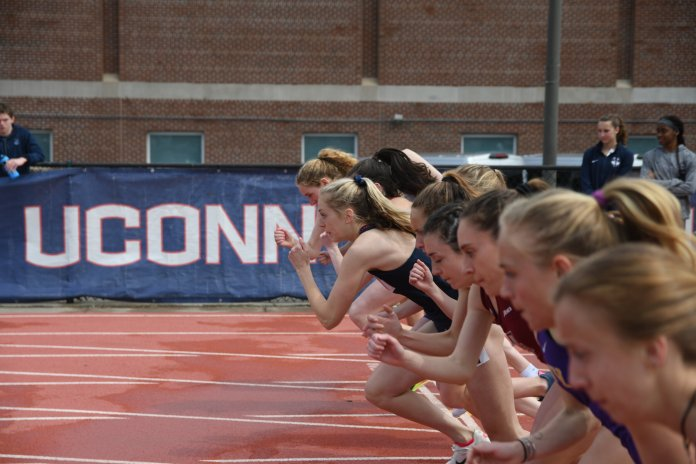 The UConn women's track team competed well in the Invitational. They came out on top in 4X800 and placing well in many other sprints.  Photo by Judah Shingleton/The Daily Campus.