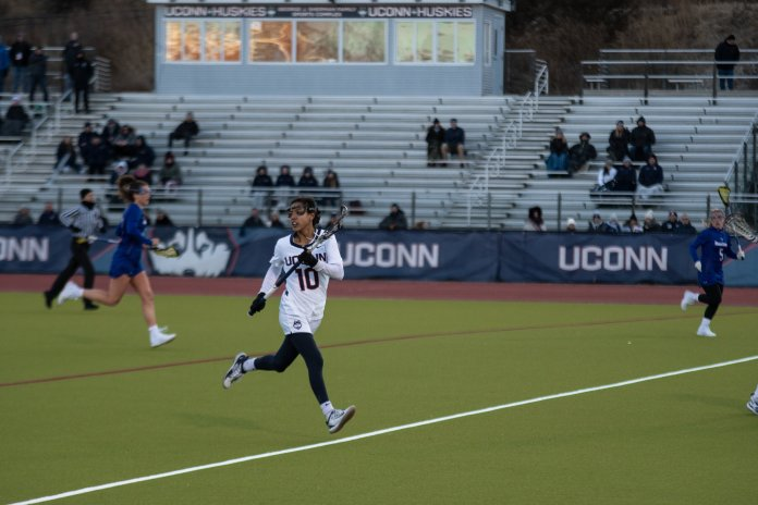 The Huskies now sit at 3-1 to start the season with their only loss coming to James Madison last weekend. They sit at No. 2 in the American Athletic Conference.  Photo by Avery Bikerman/The Daily Campus.