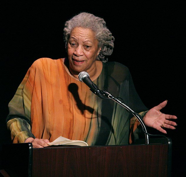 """Toni Morrison  speaking at """"A Tribute to  Chinua Achebe  - 50 Years Anniversary of 'Things Fall Apart'"""". Morrison's novel 'The Bluest Eye' is a prime example of a canonical novel written by a person of color.  Photo by Angela Radulescu in the public domain"""
