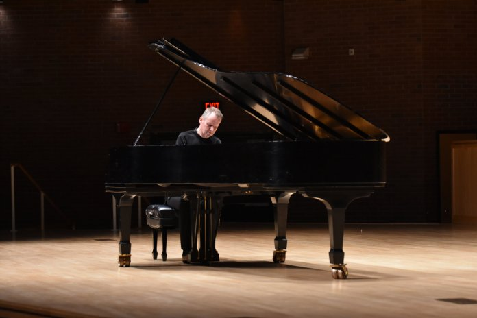 Steven Osborne, a critically acclaimed pianist, plays Beethoven's final three sonatas, at Von der Mehden Hall. Osborne will be lecturing for UConn music students later this week.  Photo by Mike McClellan / The Daily Campus