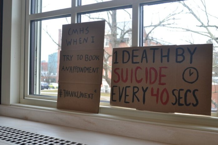 On top of increased funding, the students asked the board to consider further diversifying the mental health staff in place, so that more identities can be represented in the counseling services provided.  Photo by Wesley Nyambi / The Daily Campus