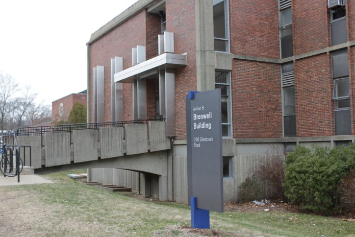 UConn's Bronwell Building, which houses the Engineering III department.  Photo by Matthew Pickett/The Daily Campus