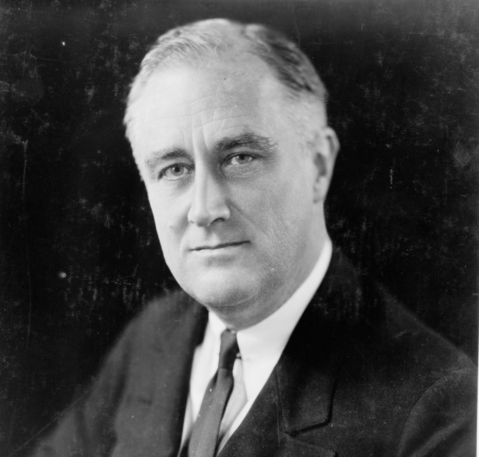 """A portrait of President Franklin D. Roosevelt. 87 years ago on March 12th, 1933 President Franklin D. Roosevelt broadcast his fire """"fireside chat.""""  Photo by    Library of Congress    on    Unsplash"""