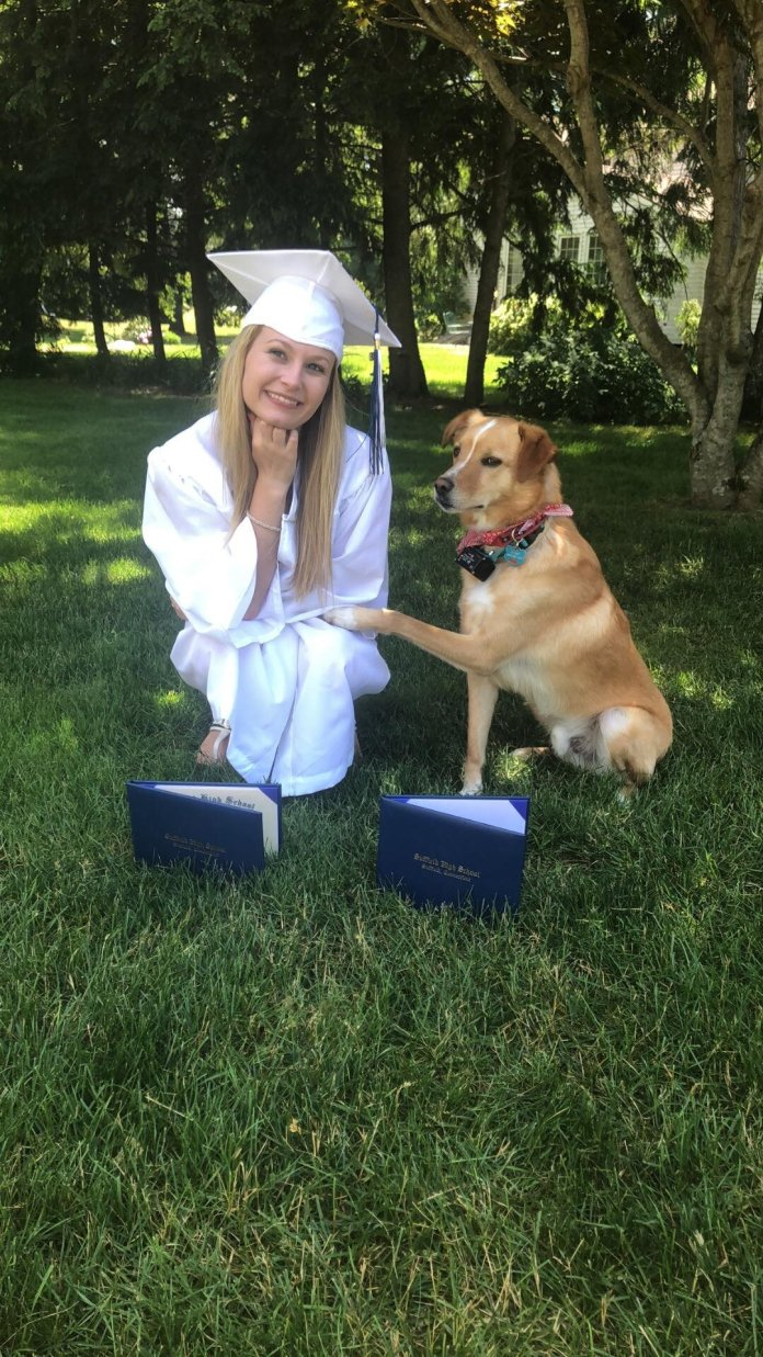 Sydney LaFrance has an emotional support dog to assist with her anxiety and severe depressive disorder.  Photo provided by Sydney LaFrance