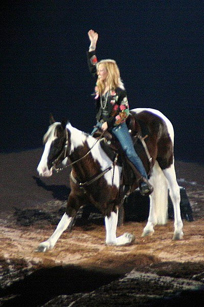 Sheryl Crow at a Houston Livestock and Rodeo Show in 2007.  Photo in the    public domain