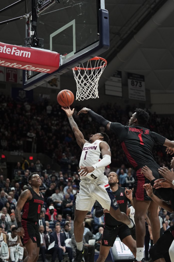 Christian Vital has done a lot for the UConn men's basketball team in his four seasons. To seal his legacy he will need to prove he can perform well in the postseason, specifically the team's upcoming AAC tournament.  Photo by Eric Wang/The Daily Campus.