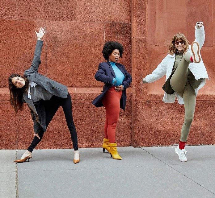 Models sporting different prints and colors.  Photo via    @manrepeller