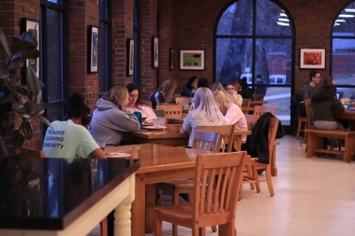 Many students are divided over the reasoning provided by dining services for Buckley Dining Hall  being closed on weekends . Some students will continue to support the petition for Buckley opening on weekends despite the information presented by dining services.  Photo by Erin Knapp / The Daily Campus.