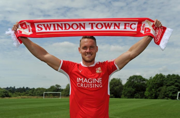 Defender Chris Hussey when he signed for Swindon Town in 2017. Writer Mike Mavredakis takes over the franchise in FIFA and tries to win the Premier League with only youth players.  Photo courtesy of Swindon Town