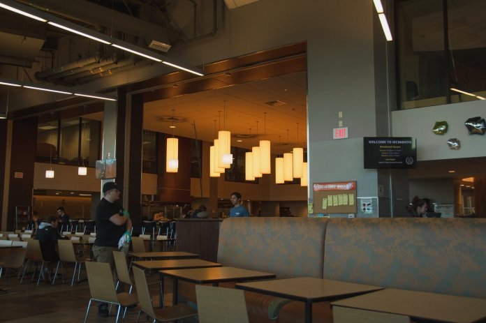 A photo of McMahon Dining hall. Many students miss the UConn dining halls, with one student posting that they specifically missed McMahon pizza.  The Daily Campus / Avery Bikerman