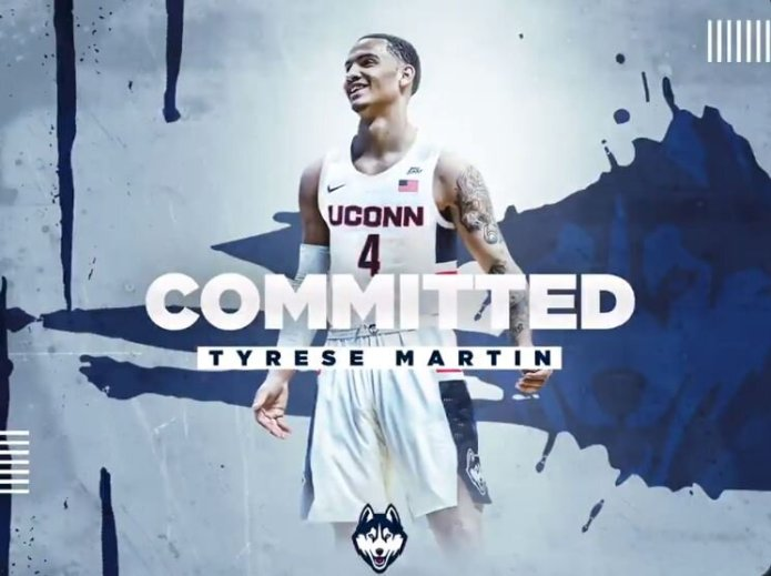 UConn men's basketball secured a new recruit Tuesday as guard Tyrese Martin announced he was transferring from Rhode Island, where he was recruited by UConn head coach Dan Hurley. He will need a transfer waiver from the NCAA in order to play next season, or else he'll have to sit out his junior season.  Photo courtesy of    @Dreambig_04    on Twitter