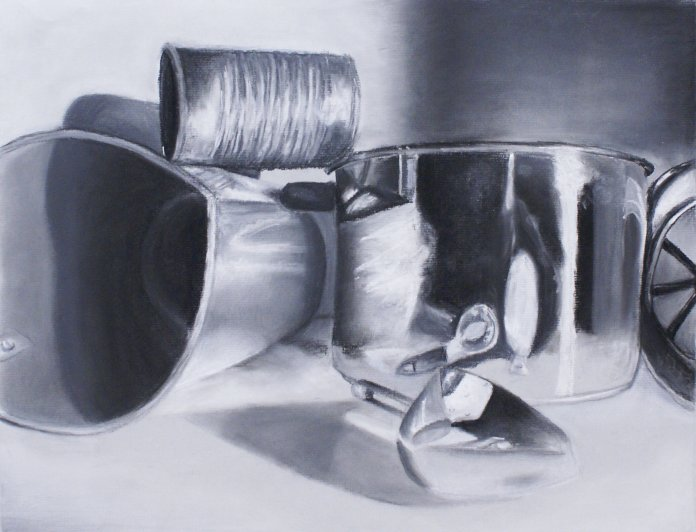 Above is a chalk pastel drawing of pots and pans I did around 2015. After spending a lifetime taking art classes, I've been bombarded with a flurry of texts asking for art advice for people trying to learn to draw during quarantine. So, here it is.  Photo provided by author.