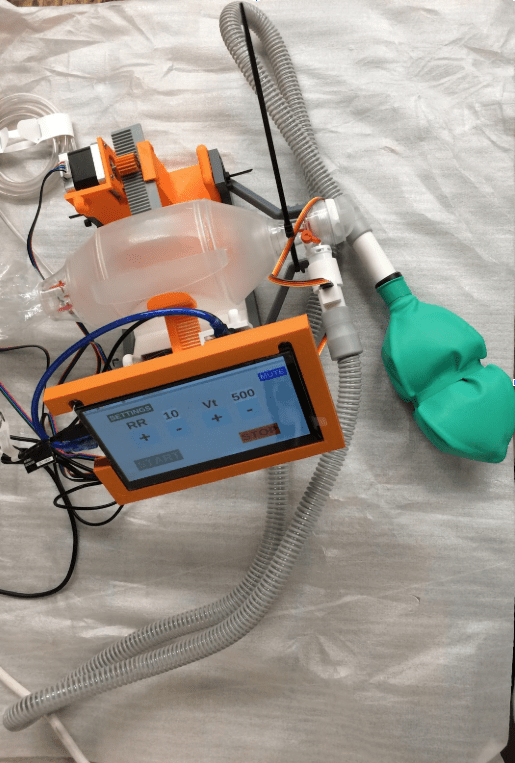 Engineers are working tirelessly to create a low-cost ventilator to assist those struck with COVID-19. Ventilators are in high demand and very expensive, so this will help those who cannot afford it but need the help.  Photo provided by Sam Pedrotty.