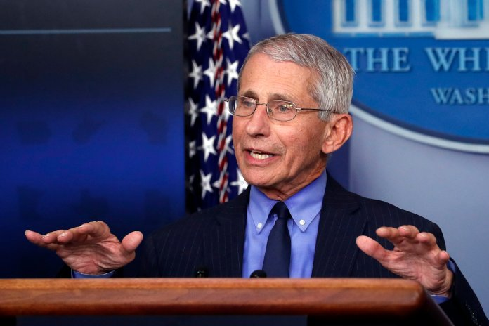"""Many """"doctors"""" have exposed themselves recently when attempting to speak about COVID-19. Amongst all the noise, Dr. Anthony Fauci has proven to be the most credible source.  Photo by Alex Brandon/AP."""