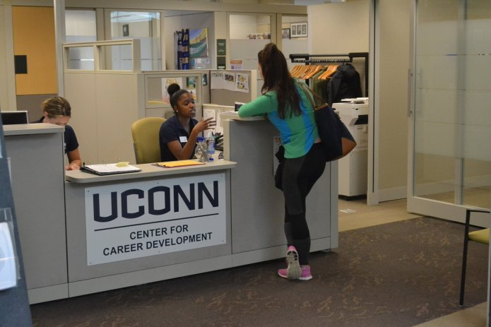 In the midst of the COVID-19 outbreak, UConn's Center for Career Development is offering advice for students that have had internship and job opportunities canceled due to the virus.  Photo courtesy of File Photo/The Daily Campus. Thumbnail photo courtesy of Matt Pickett/The Daily Campus.