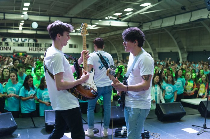 Kids That Fly performs at HuskyTHON 2020.  Photo by Charlotte Lao/The Daily Campus