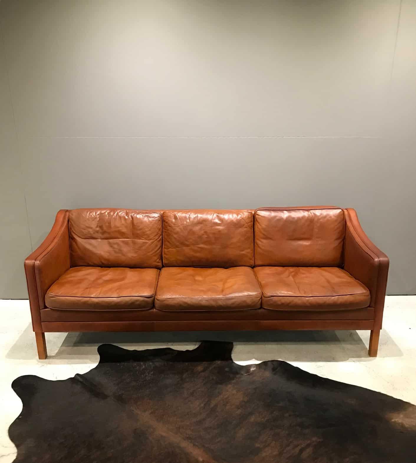 Vintage Danish Leather Sofa Mid Century Furniture Melbourne