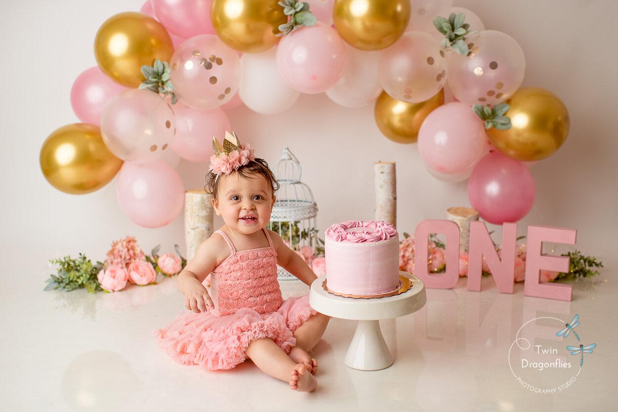 Cake Smash Photographer First Birthday Photography Cake Smash Photographer San Jose Twin Dragonflies Photography
