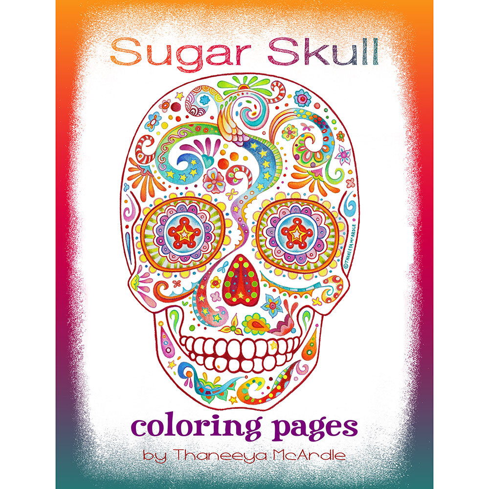 Sugar Skull Coloring Pages Detailed Day Of The Dead Coloring Pages By Thaneeya Mcardle Art Is Fun