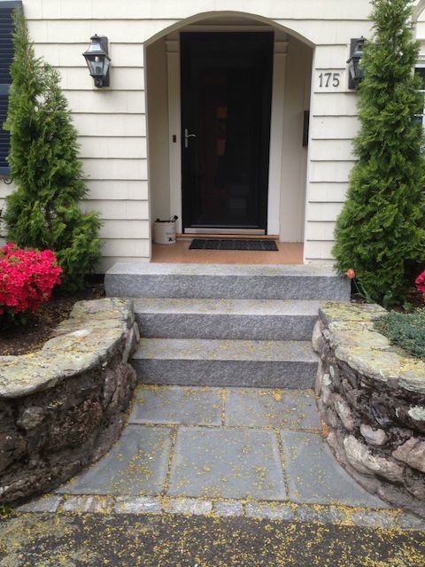 Entrances And Steps Landscaping In Ma — Natural Path Landscaping | House Entrance Steps Designs | Contemporary | Side Entrance | House Main Gate Roof | Duplex House | Ultra Modern Modern Front