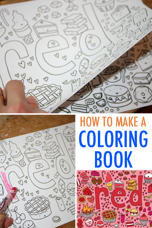 Fun for Kids and Adults: How to Make Coloring Book Pages — Jessie