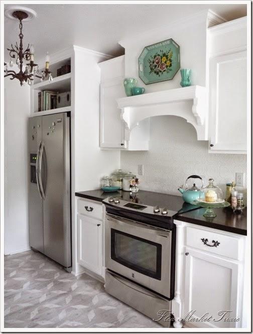 awkward space above the fridge