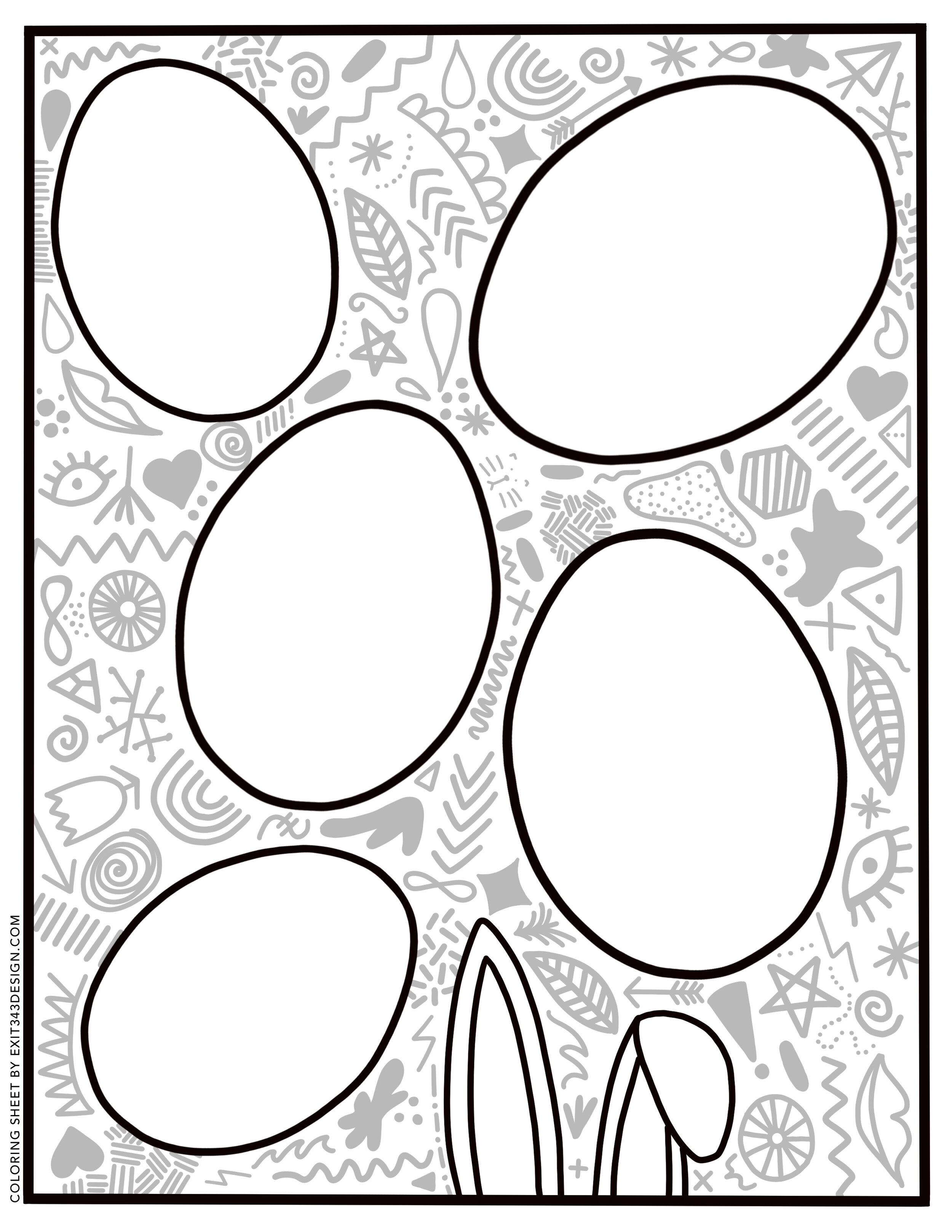 Friday Fun Free Easter Egg Color Page Download E X I T 3 4 3 D E S I G N