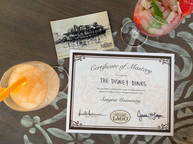 Our final drinks and our special certificate. It's official: we got smarter (and perhaps a bit drunker).