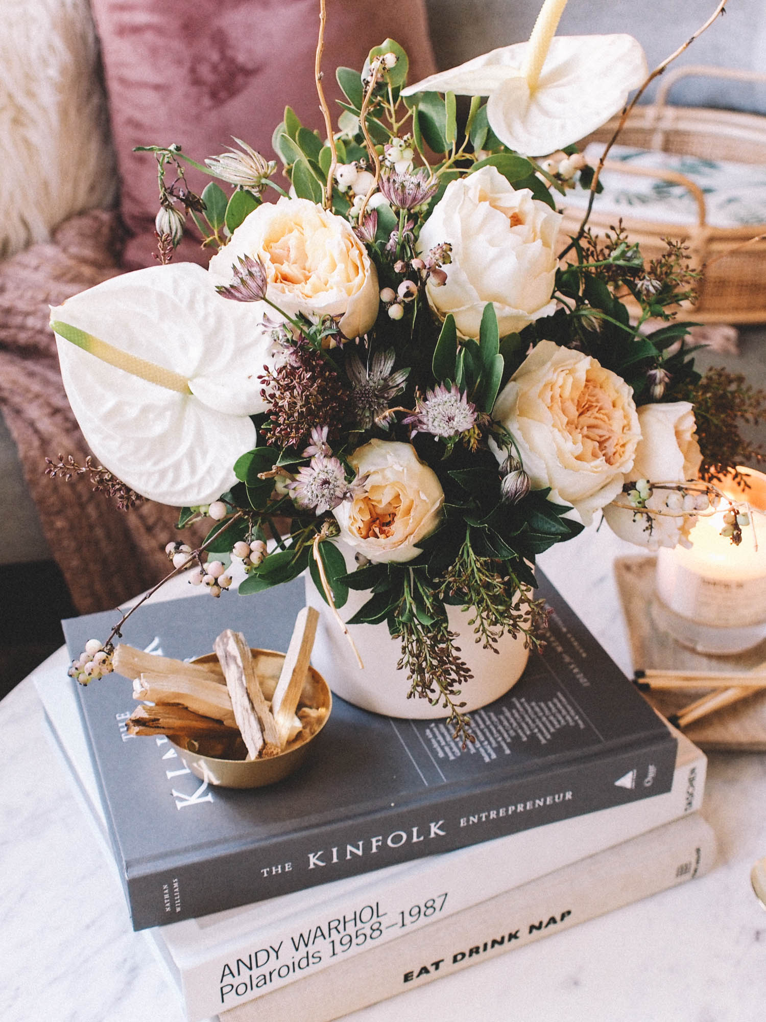 style your coffee table with books