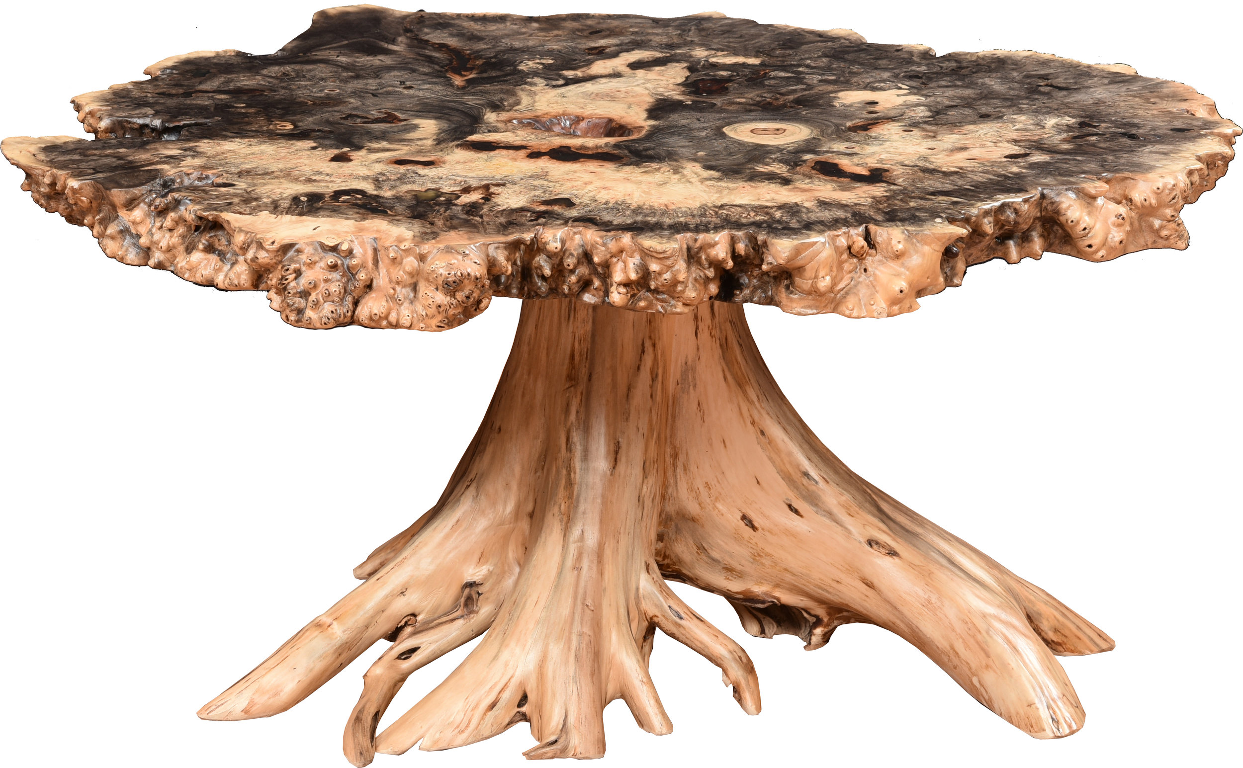 burl accent stump base coffee end tables ma pa s